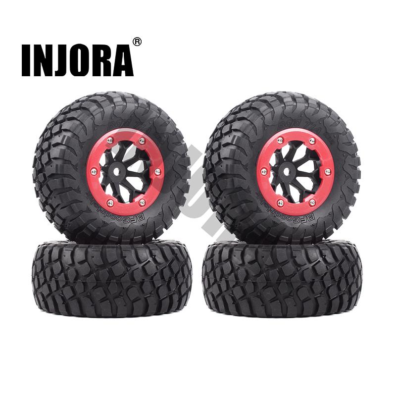 US RC 4X 1:10 Short Course Tires/&BeadLock wheel 12mm Hex For TRAXXAS Slash Car