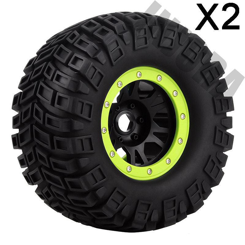 Details about 2PCS RC 1:8 Monster Truck Tires Rubber Tyre Wheel Rim for  Traxxas HPI LOSI HSP