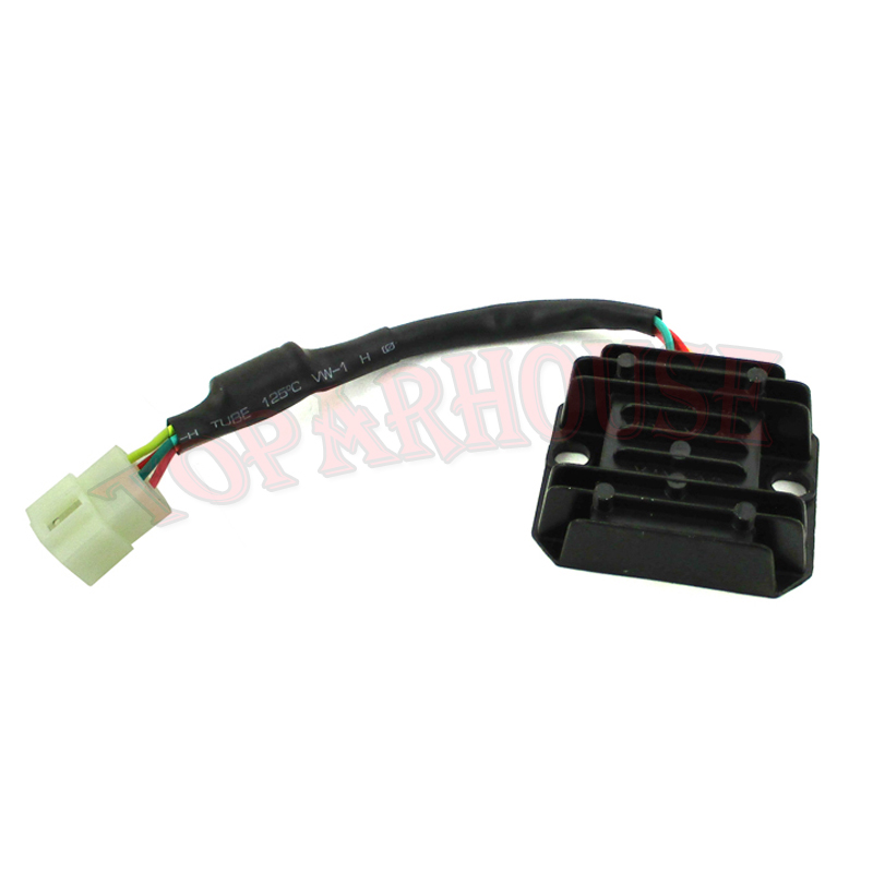 4 Wire Voltage Regulator Rectifier For Gy6 Moped Scooter 125 150cc ATV Pit Dirt Bike: Honda Crf Regulator Rectifier Wiring At Hrqsolutions.co