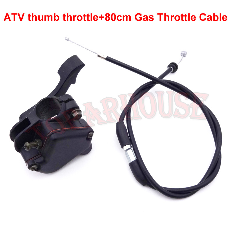 Thumb Throttle Control Housing Cable Fit 50 70 90 110 125cc ATV Quad Kazuma Sunl