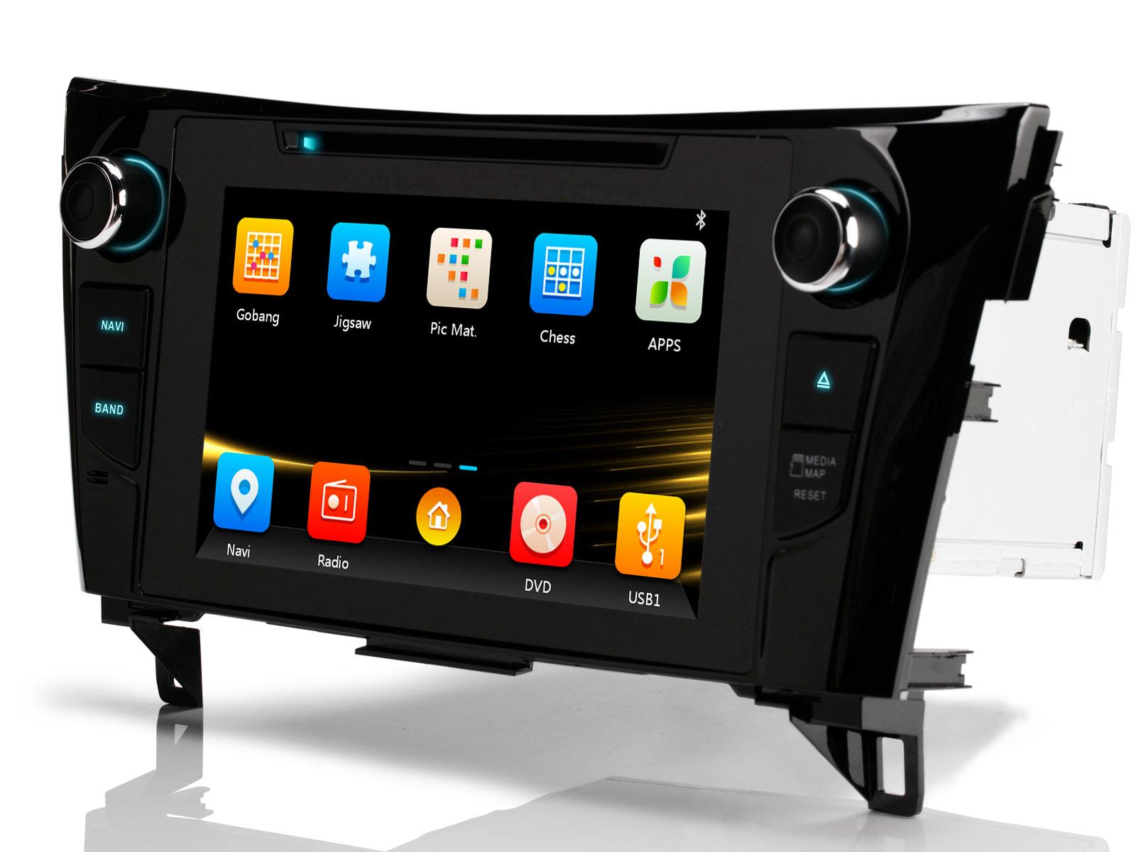 f r nissan qashqai j11 x trail t32 8 hd gps autoradio. Black Bedroom Furniture Sets. Home Design Ideas