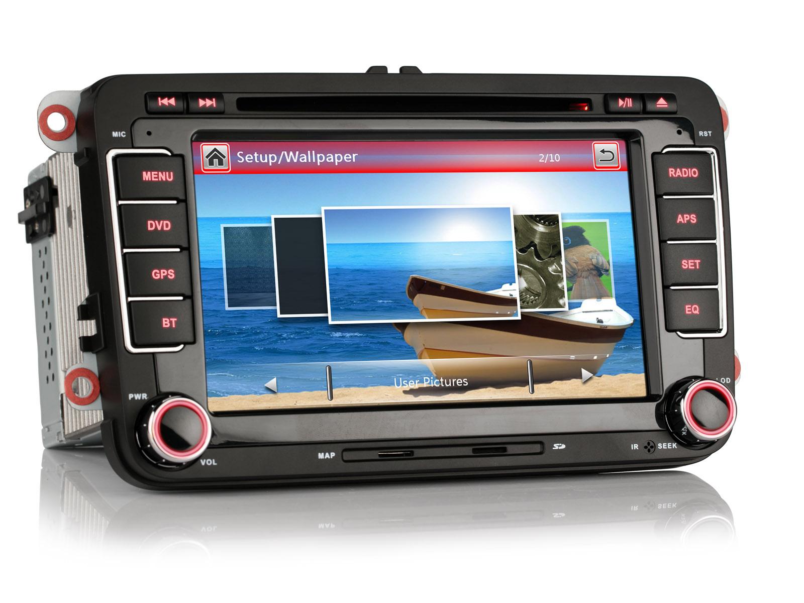 r ckfahrkamera 7 gps autoradio navigation dvd f r vw. Black Bedroom Furniture Sets. Home Design Ideas
