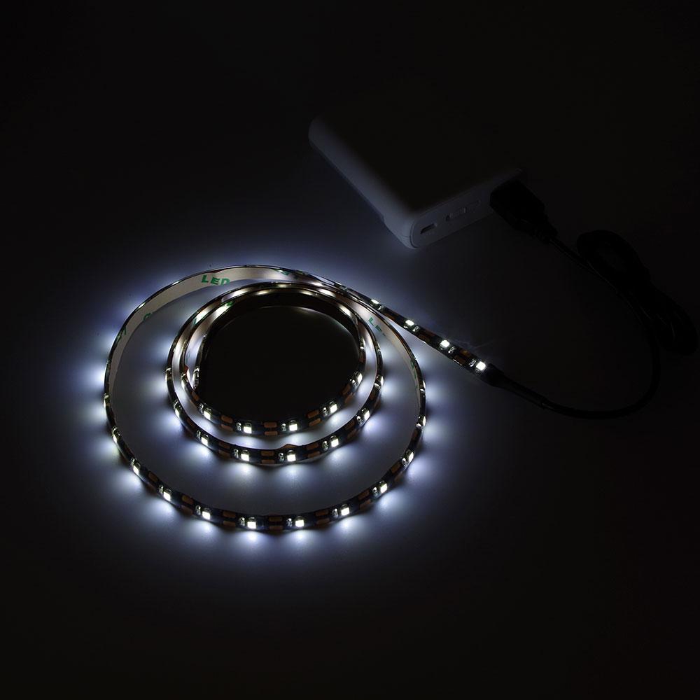 3Ft 5V USB LED Strip Light  Blue bias lighting WaterProof For Car TV Power bank