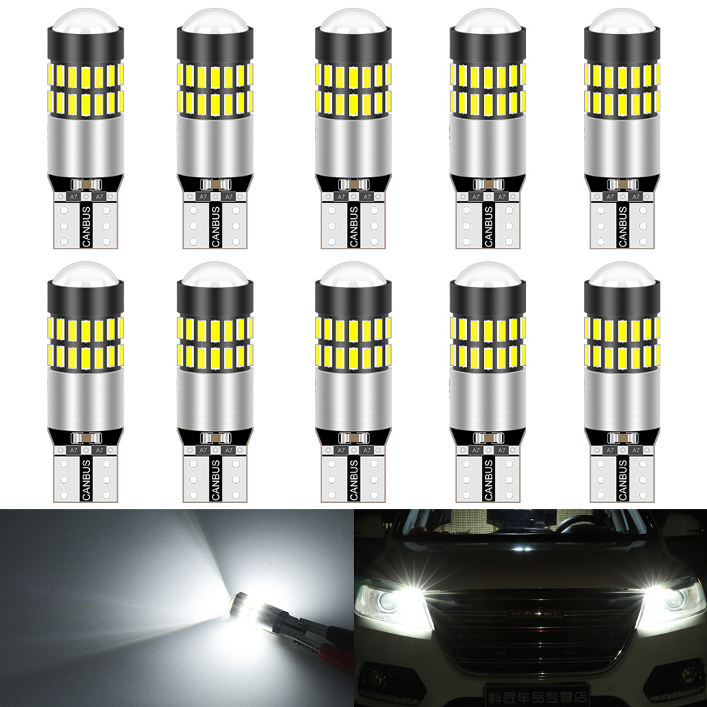 2018 LED UPGRADE 2X 30SMD 501 T10 W5W BRIGHT AMBER INDICATOR LIGHT BULBS CANBUS