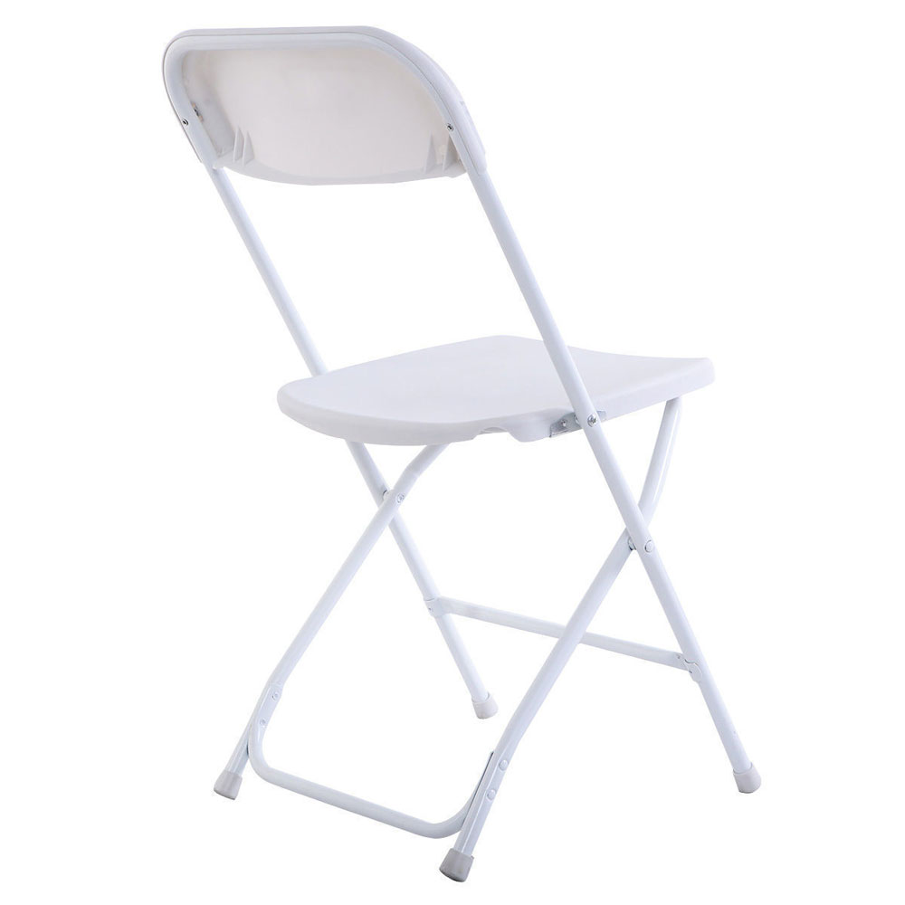 Details about 5x portable plastic folding chairs white furniture durable dining room us stock
