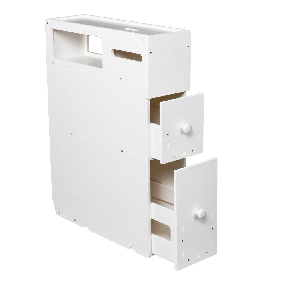 Enjoyable Details About Movable Slim Bathroom Storage White Pvc Unit Display Shelf Cabinet W Drawers Beutiful Home Inspiration Xortanetmahrainfo