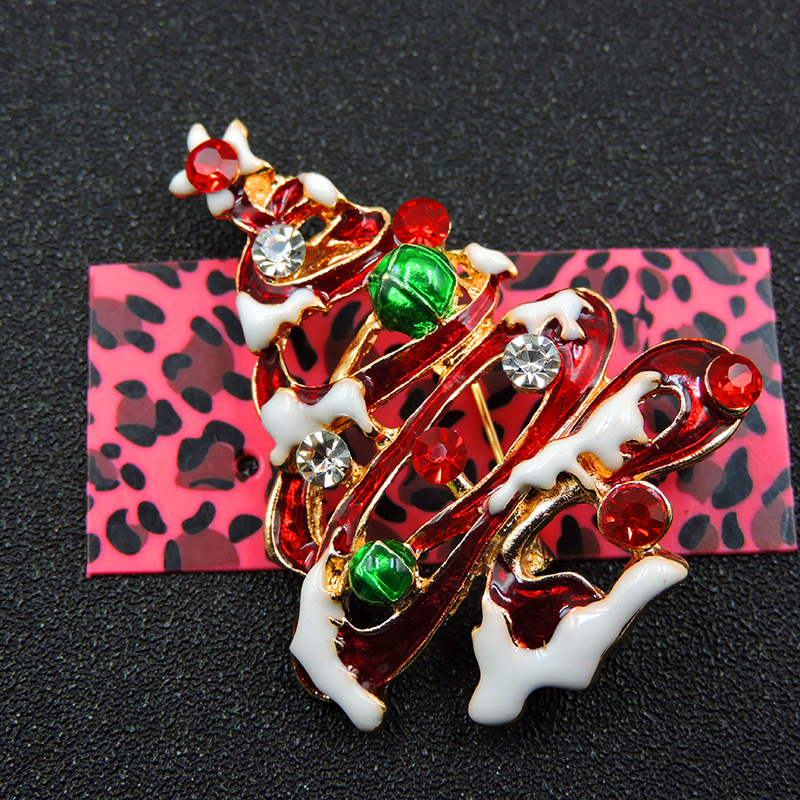 Pin By Crystal Johnson On Baldwin Hills Dam Break: Red Enamel Exquisite Christmas Tree Crystal Rhinestone