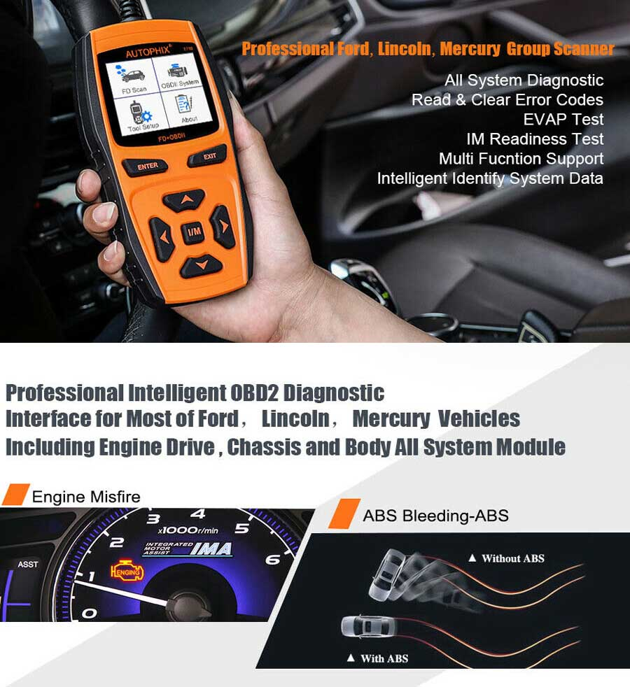 Details about A++ Ford OBD2 Scanner Car Code Reader TPMS ABS SAS EPB Oil  Reset Diagnostic Tool