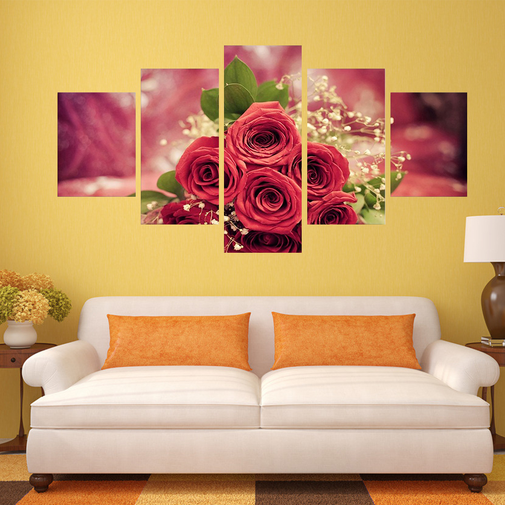 HOT 5Pcs Modern Art Oil Paintings Canvas Unframed Pictures Print ...