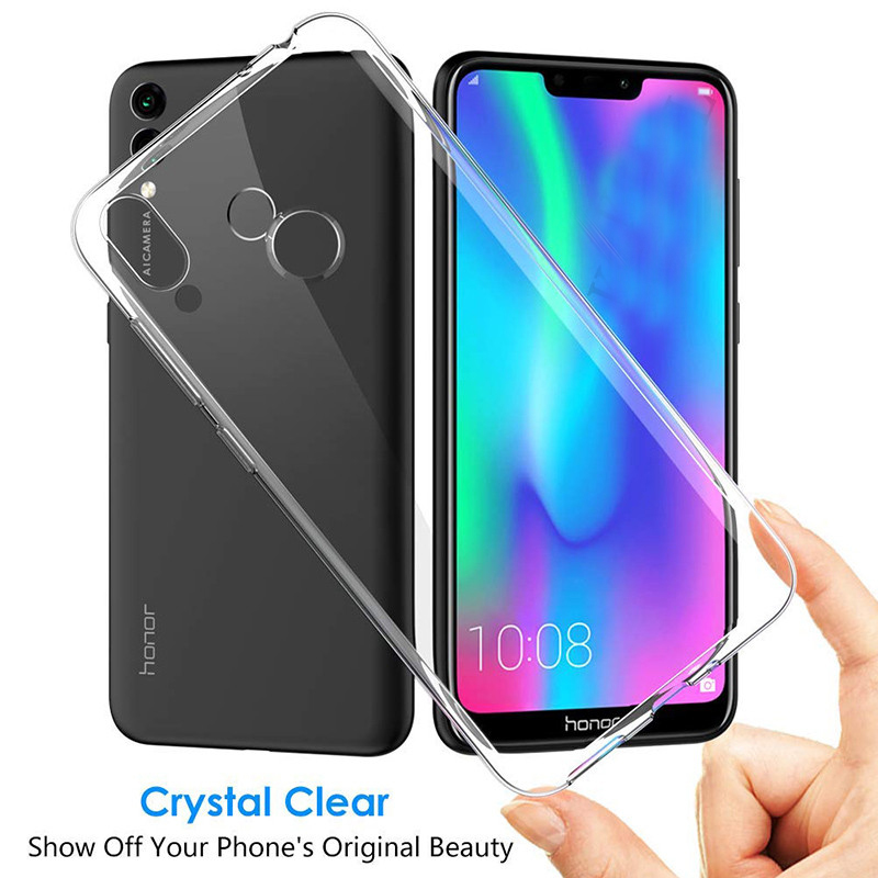 Details about Transparent Crystal Clear Silicone Case For Huawei Y9 2019  Soft TPU Slim Cover