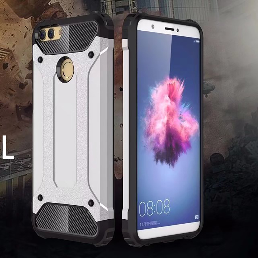 pretty nice 06bcc 85c26 Details about For Huawei P Smart Protective Hybrid Shockproof Hard Armor  Cover Silicone Case