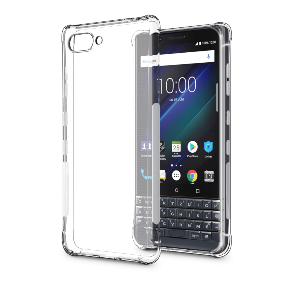Details about Slim Shockproof Transparent Silicone Case Soft TPU Cover For  BlackBerry Key 2 LE