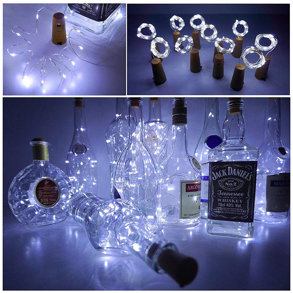 Warm Wine Bottle Cork Shape Light 20//30//50 LED Night Fairy String Lights Lamp BJ