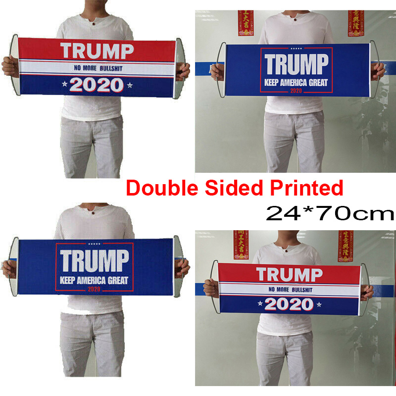 No More Bullshit 24*70cm Re-elect President 2020 Trump Flag Keep America Great