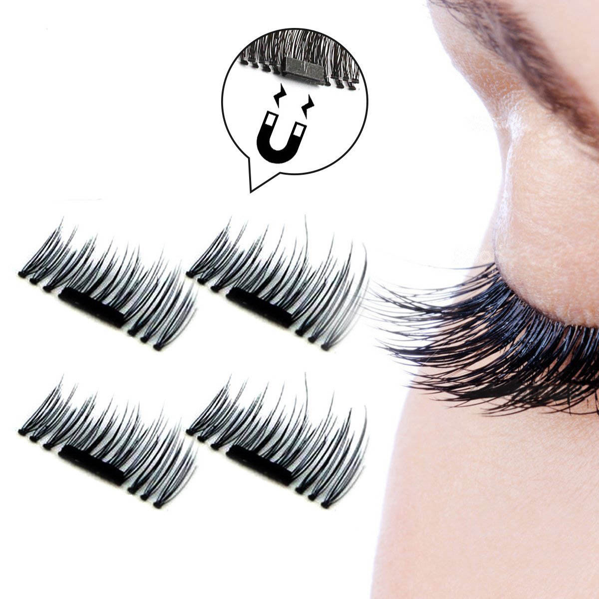 4stk 3d magnetisch wimpern augen make up falsche k nstliche wimpern eye lashes ebay. Black Bedroom Furniture Sets. Home Design Ideas