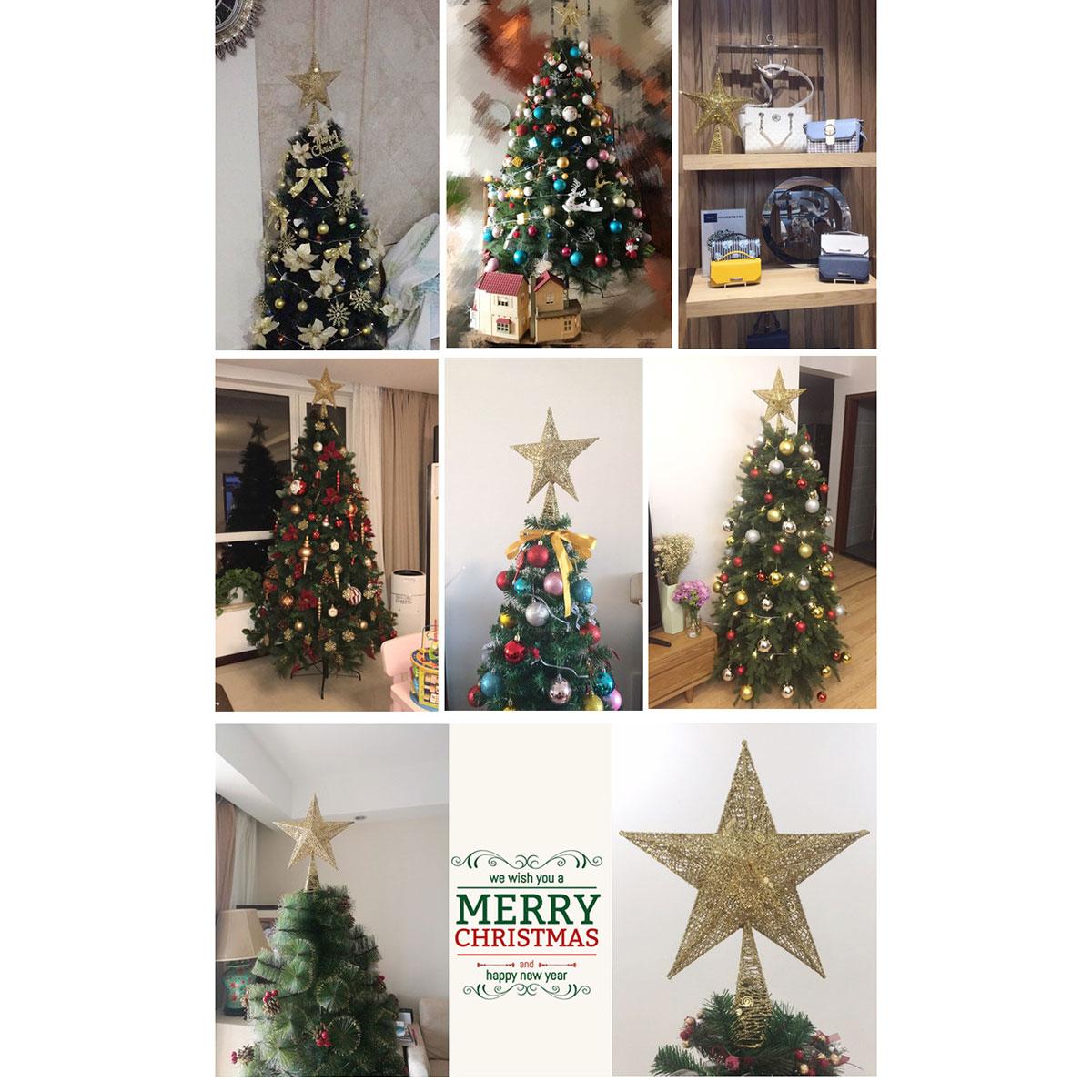 6pcs//Set Gold Silver Christmas Tree Pendant Baubles Fairy Angel Deer Decorations