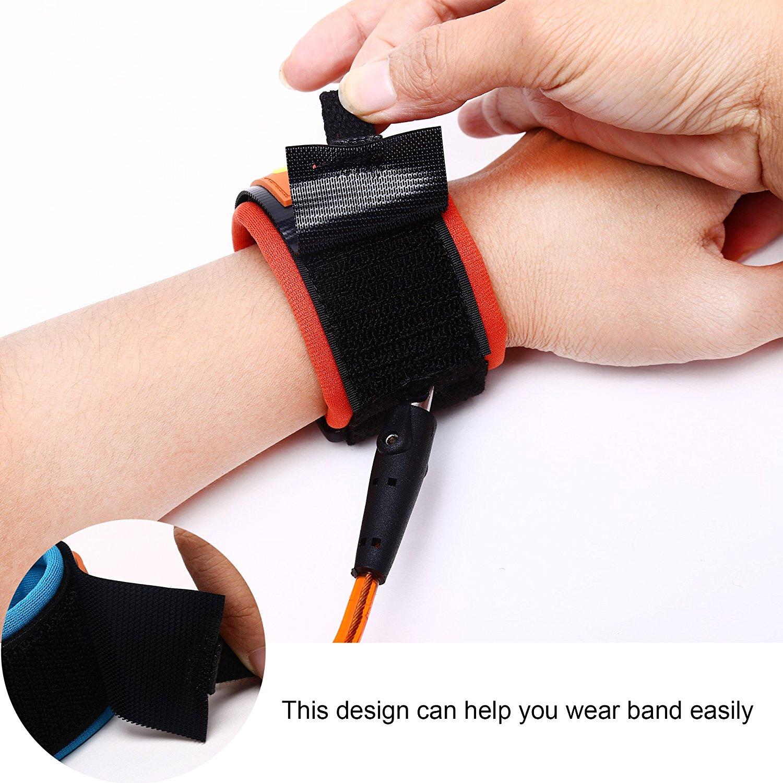 2X Children Outdoor Safety Wrist Link Eco Friendly Anti Lost Cotton Wrist Strap