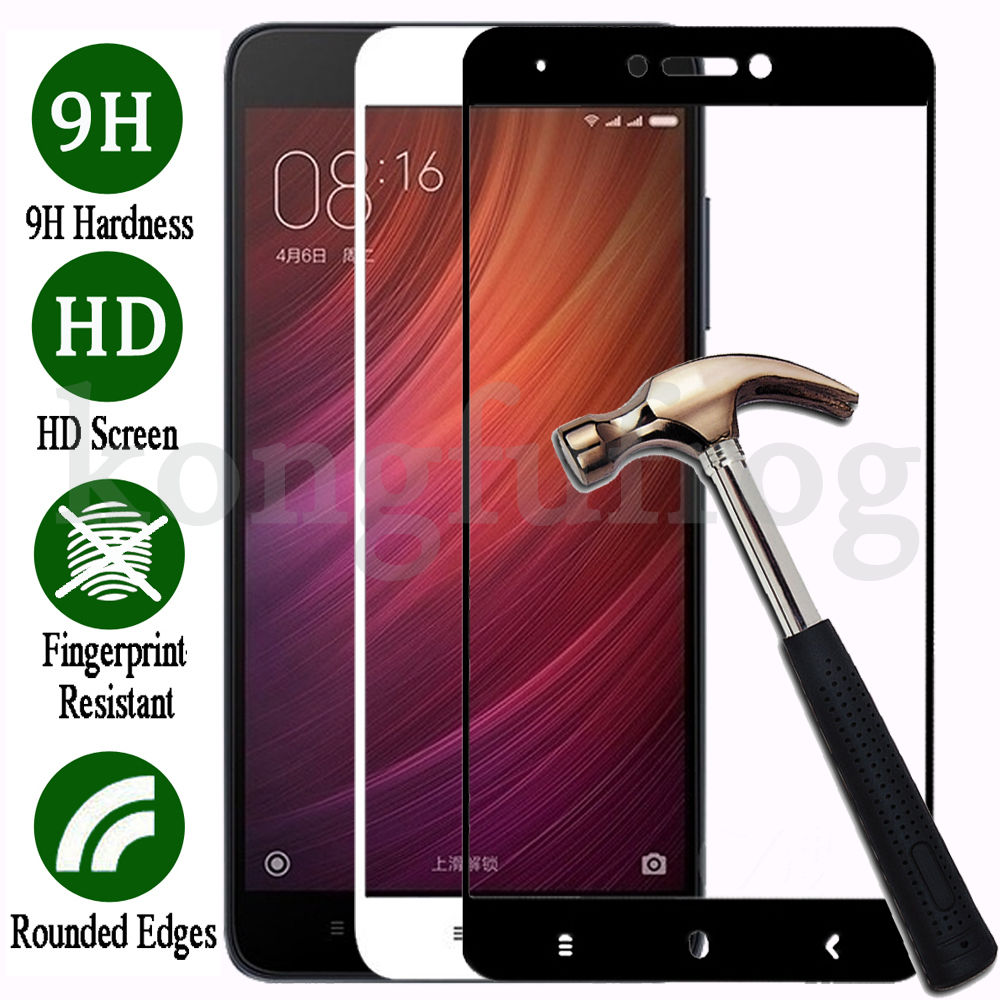 meet 4ab49 b1d65 Details about 3D Full Cover Tempered Glass For Xiaomi Redmi 4X 4A /Note 4  4X Screen Protector