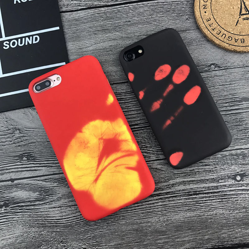 reputable site d5bd6 bef1f Details about Heat Induction Thermal Color Changing Phone Case Cover For  Phone 7 Plus 6/6s