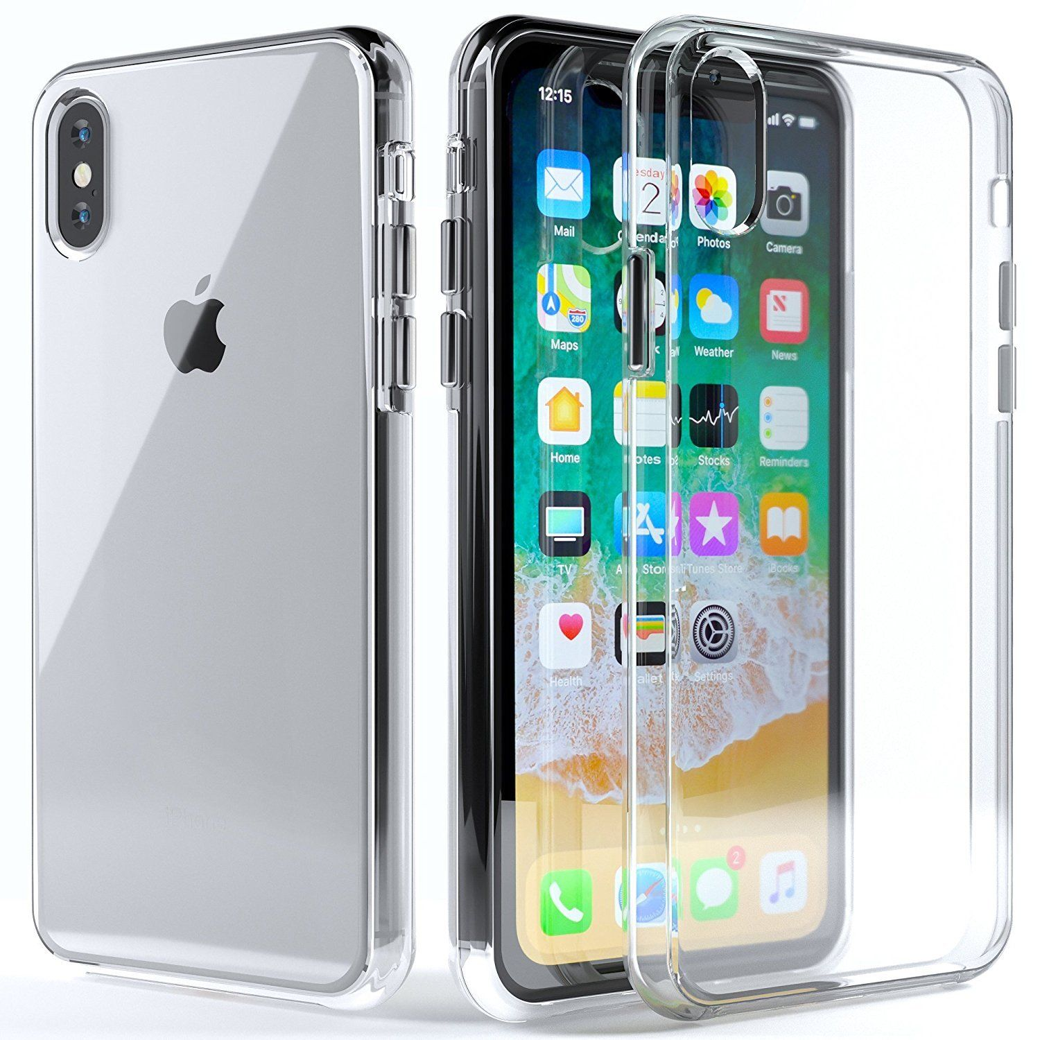 For Apple iPhone XS Max 2018 6.5'' Clear TPU Ultra Slim Case Back Cover
