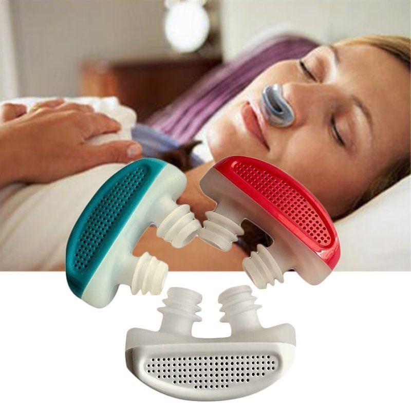 New Silicone Anti Snore Nasal Dilators Apnea Aid Device Stop Snoring Nose Clip