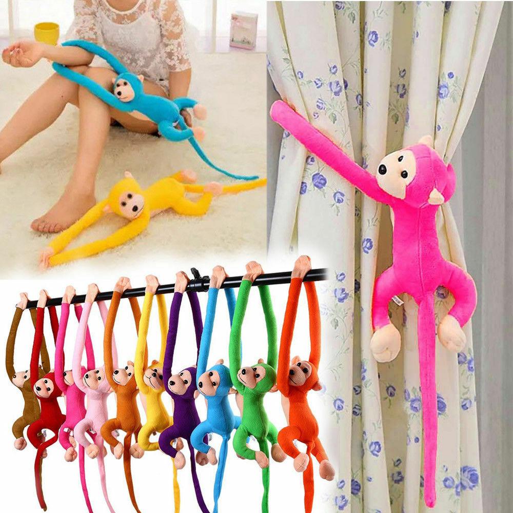 Colorful Long Arm Monkey Soft Plush Doll Stuffed Animal Toy Kids Hanging