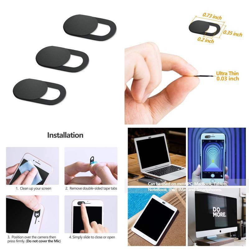 3PCS Webcam Cover 0.03in Ultra Thin iRush Web Camera Cover for Laptop PC
