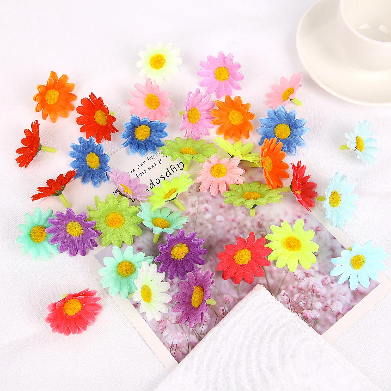 50P Artificial Silk Gerbera Flowers Bulk Daisy Sunflower Heads Wedding DIY Decor