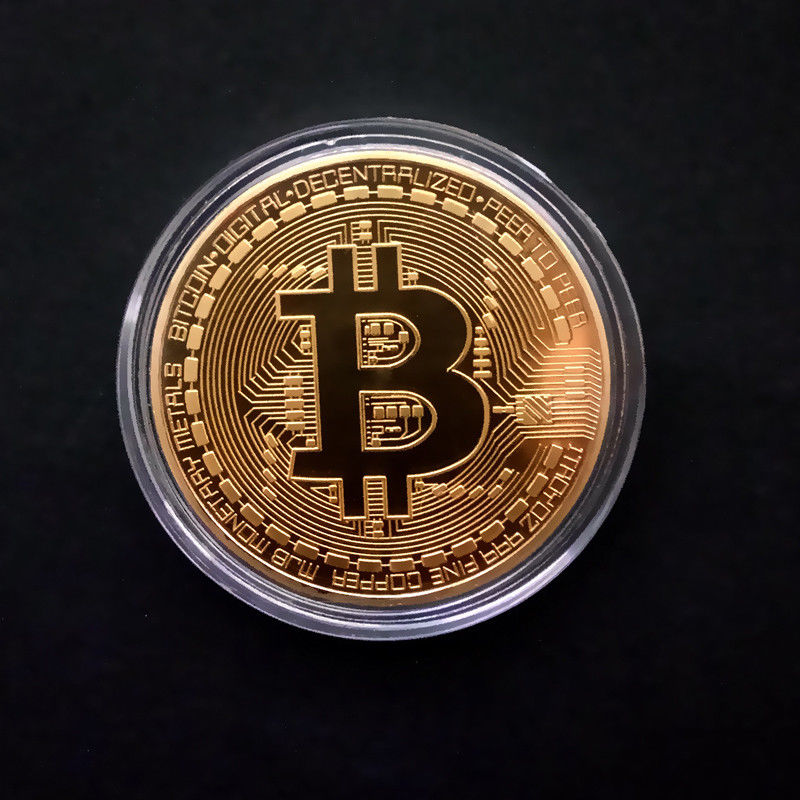 Silver Bitcoin Commemorative Round Collectors Coin Bit Coin is Plated Coins