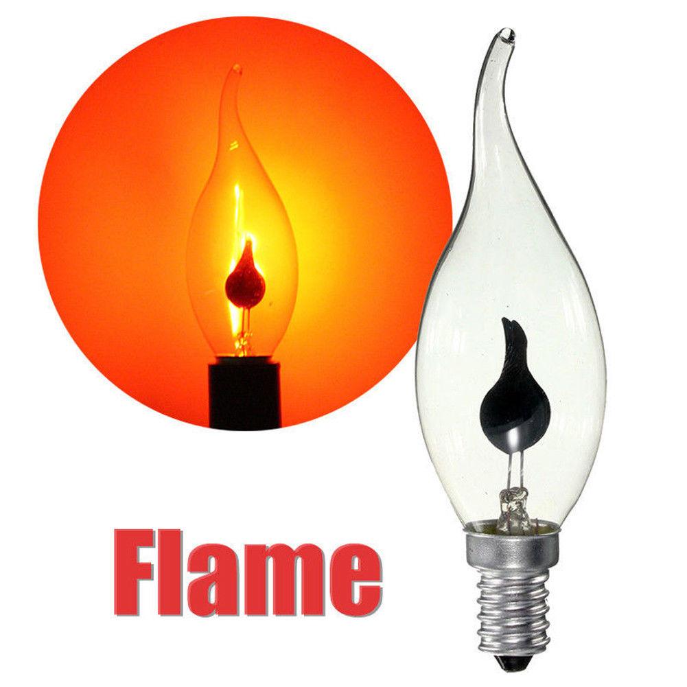 E14 E27 Led Light Flicker Fire Flame Bulb Candle Lamp Home