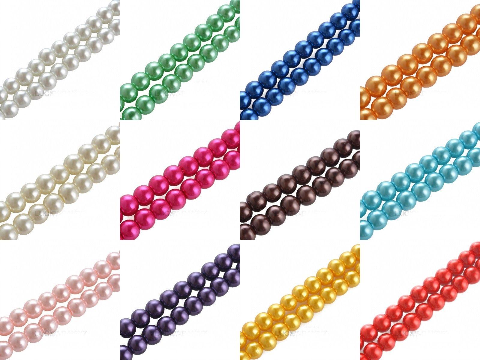 10 pièces rose 10mm rond Rodé perle