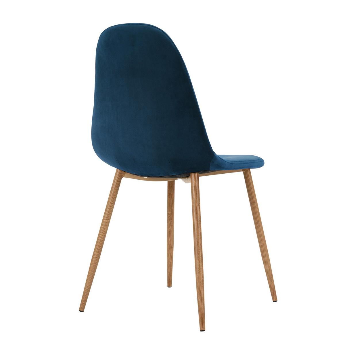 lot de 4 chaises scandinave tendance velours anthracite pied m tal chrom ebay