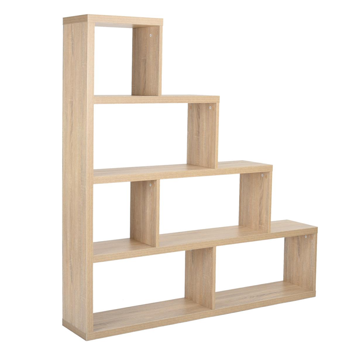 etag re escalier biblioth que rangement 4 tages design m lamin ch ne clair ebay. Black Bedroom Furniture Sets. Home Design Ideas