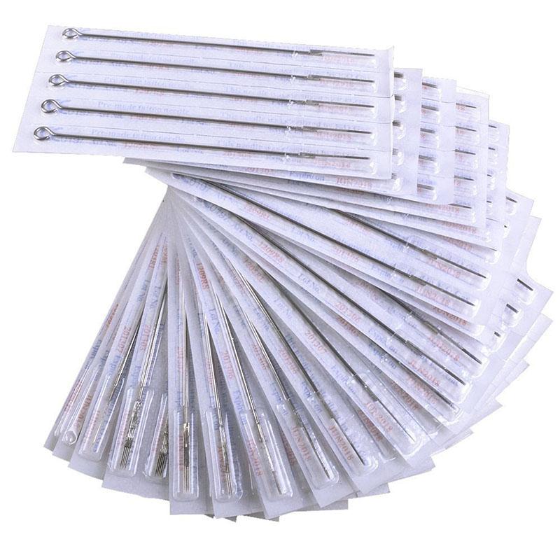 200pcs Sterile Tattoo Needles Kit Steel Round Liner Shader Varied