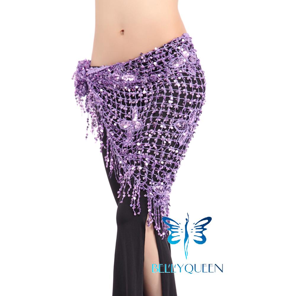 Belly Dance Costume Sequins Tassels Fringes Hip Scarf Belt Waist Skirt CAL