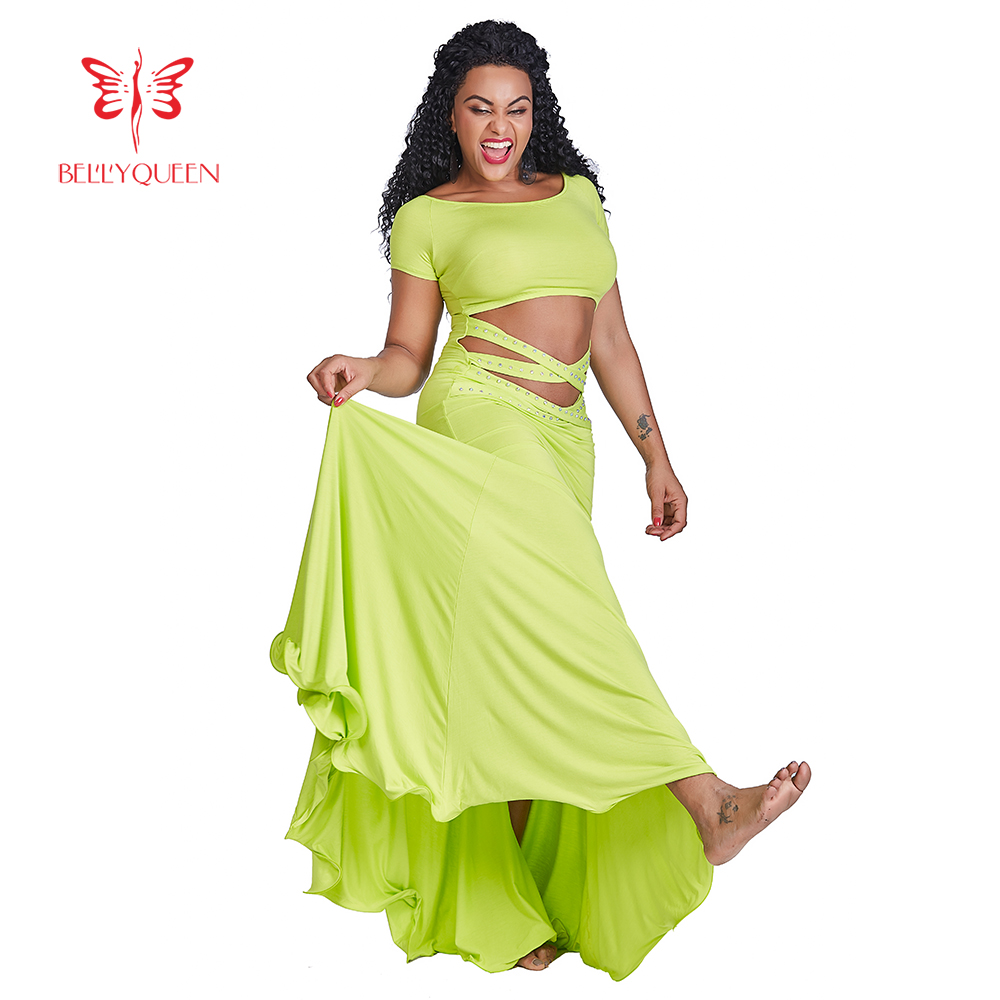 b55c202b1f2f USA 2018 Dark Pink Belly Dance Costumes Long Dress Skirt Performance Women  M L