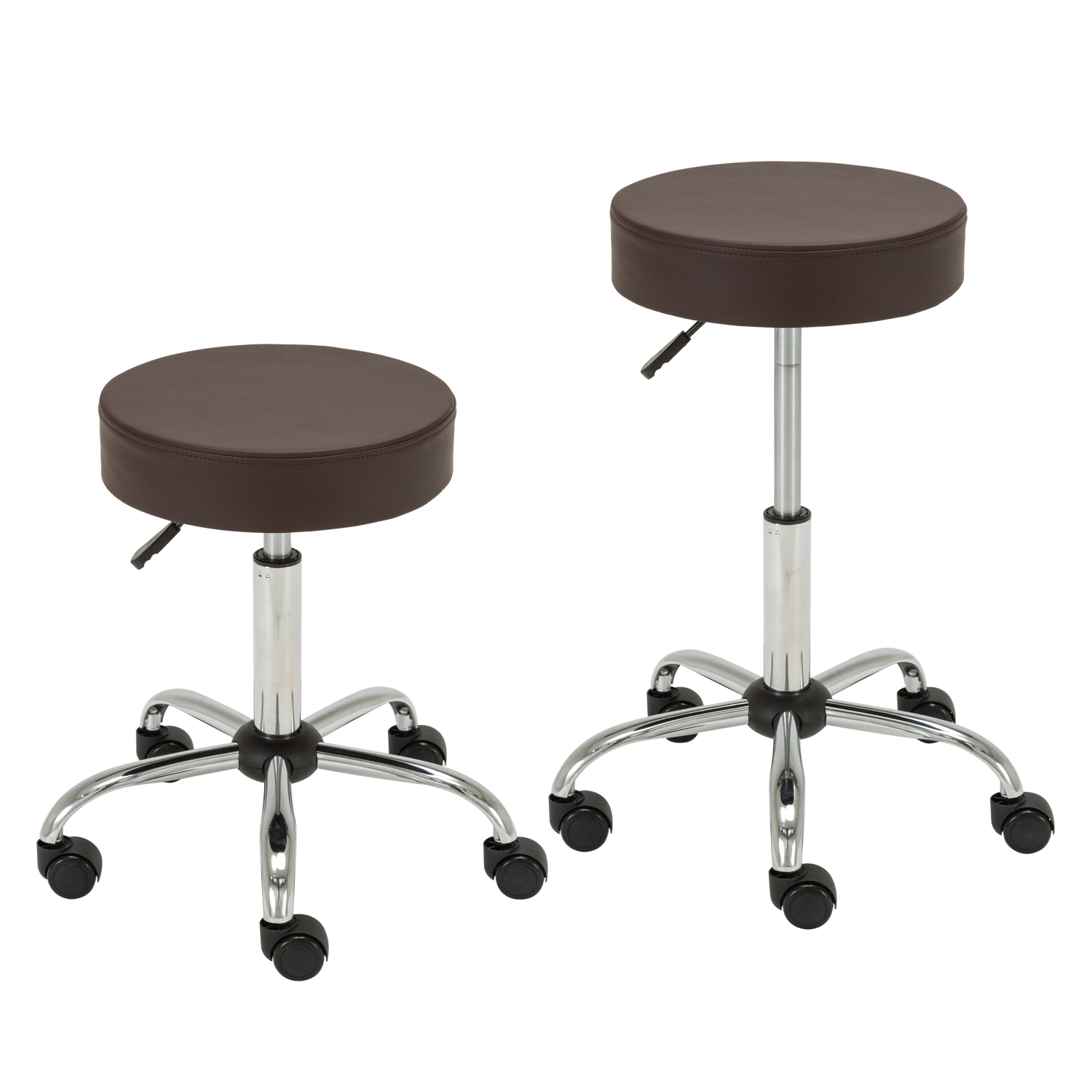 Stool With Wheels Bar On Tall