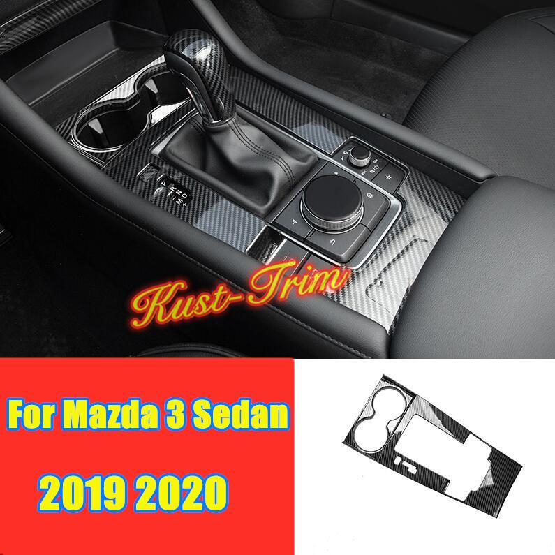 Carbon fiber style Center Console Stripe Decorative Trim For Mazda 3 Axela 2017