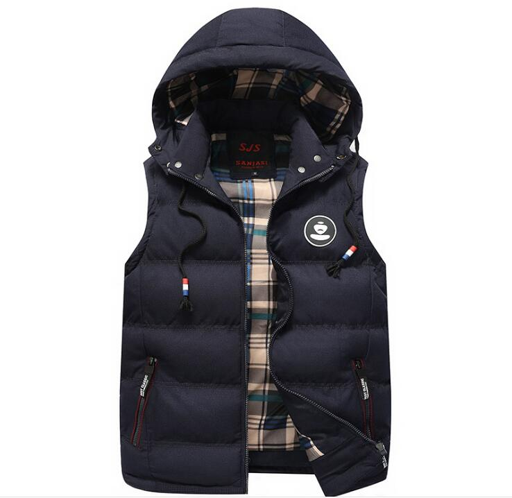 Men-039-s-Winter-Warm-Sleeveless-Cotton-Jacket-Vest-Waistcoat-Zip-Jacket-Outwear
