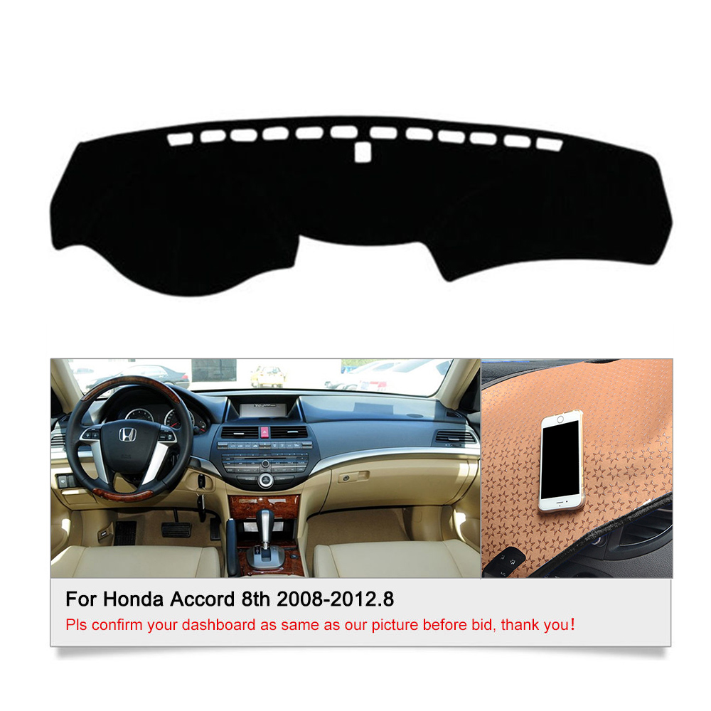 Fit For Honda Accord 8th 2008-2012 DashMat Dashboard Cover Dash Cover Mat Parts & Accessories