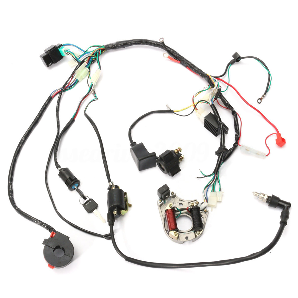 70  90  110  125 Cc Mini Atv Quad Complete Wiring Harness Cdi