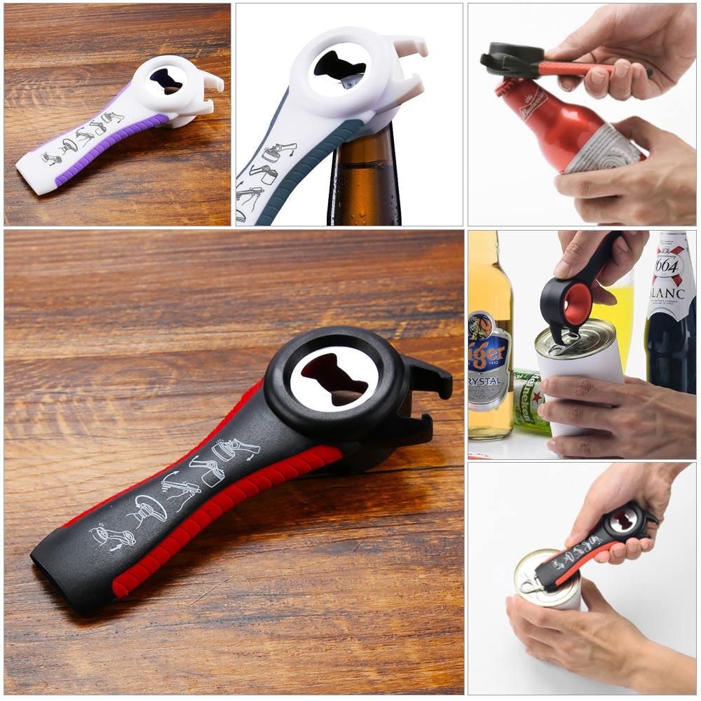 Manual Tool Gadet 5 In 1 Multifunctional Beer Bottle Opener Jar Can Wine Kitchen