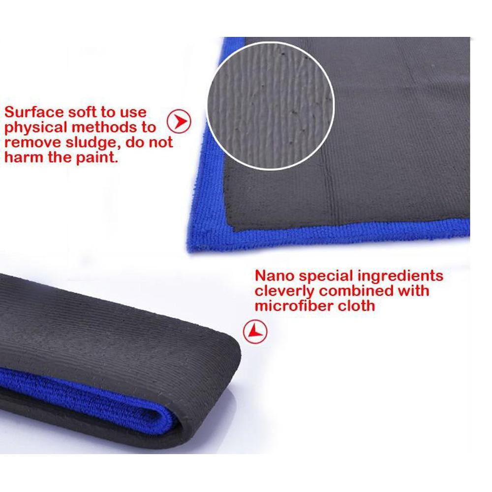 "12/""x12/"" Clay Bar Microfiber Car Polishing Cloth Detailing Cleaning ToweFR90?!"