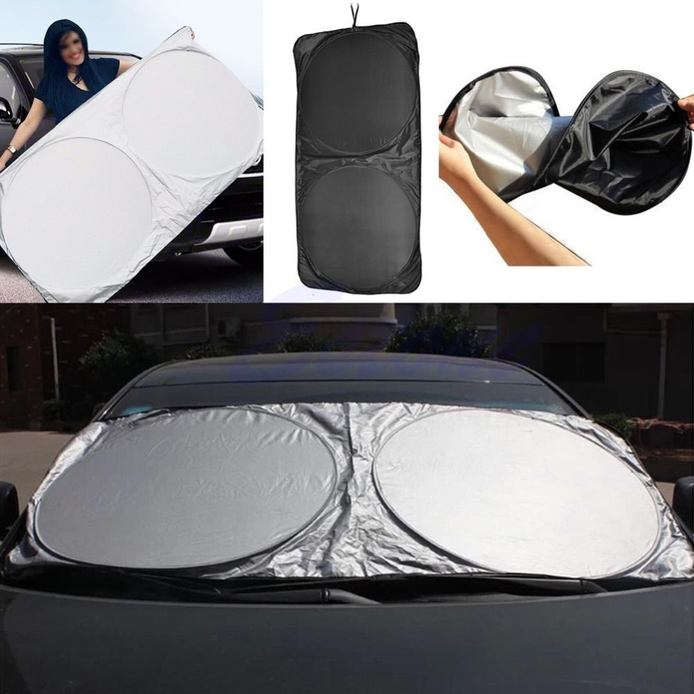 Folding Jumbo Front Car Window Sunshade Auto Sun Visor Windshield Cover 150*80CM