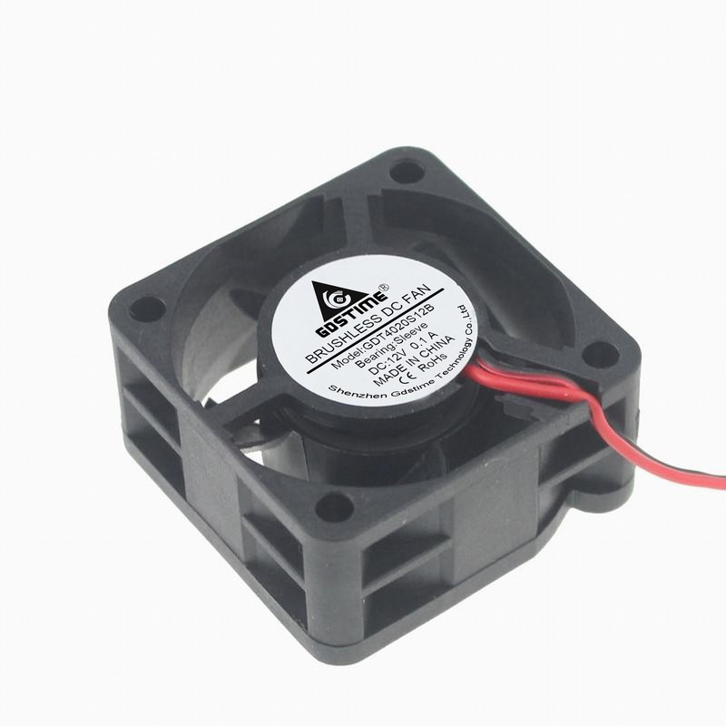 DC Brushless 12V 0.1A 40X40X20mm 6500RPM Cooling Exhaust Fan w//2 Pin Connector