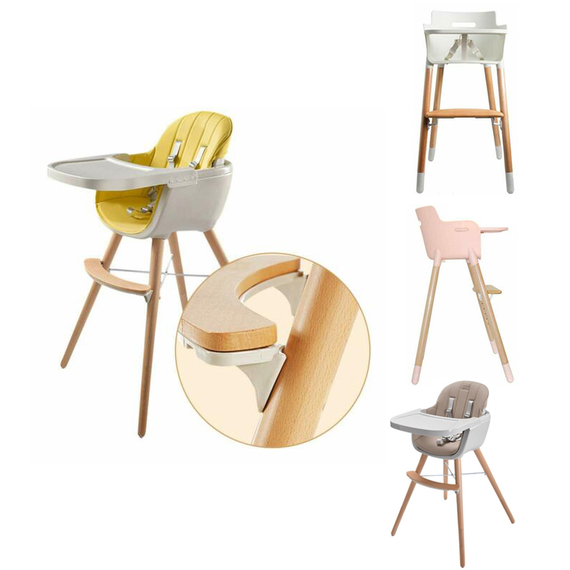 Details About Baby High Chair Wooden Stool Infant Feeding Children Toddler Restaurant Us Ship