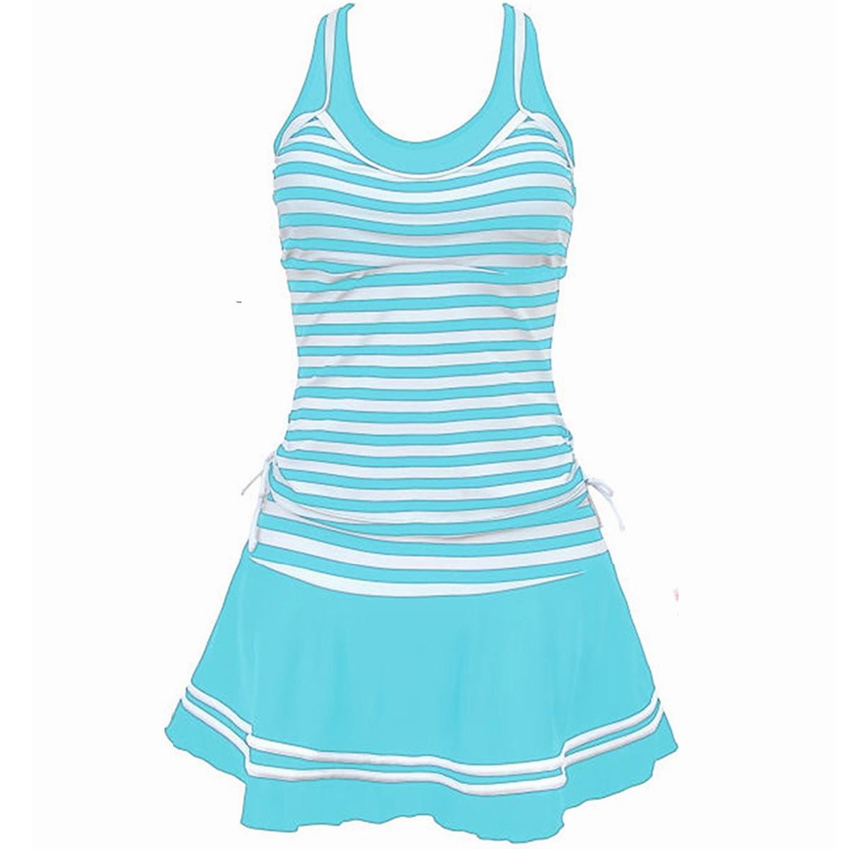 women tankini two piece dress swimsuit plus size bathing
