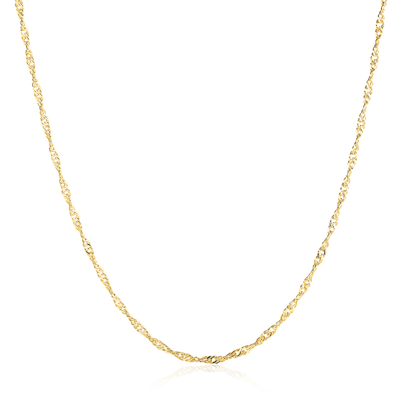 """10pcs 18K Rose Gold Plated 2mm Water Wave Chain Necklace 16/""""-24/"""" Wholesale lots"""