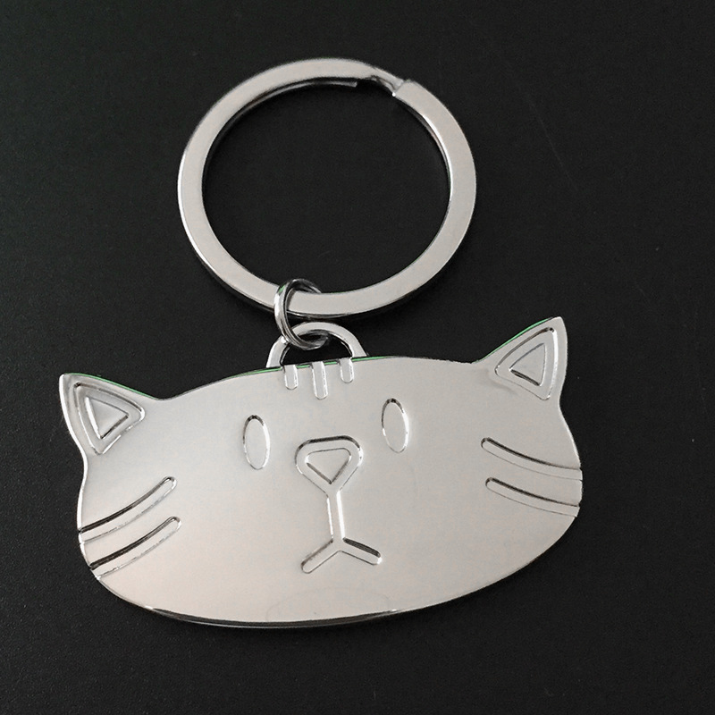 Cute Apple Smooth Keychain Key Ring Pendant Kid Gift Present Accessories