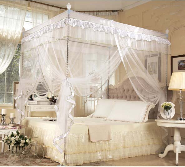 Princess Bed Canopy Mosquito Netting Or Bed Frame Post Twin Full ...